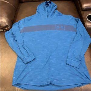 Under Armour XXL Hooded Shirt Blue